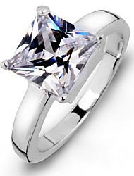 Luxurious Women's Square Austrian Crystal Wedding  Rings