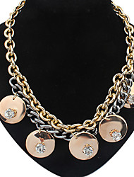 Welly Women's Punk Statement Fashion Rhinestone Necklace