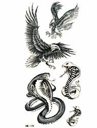 Waterproof Cobra Temporary Tattoo Sticker Tattoos Sample Mold for Body Art(18.5cm*8.5cm)
