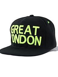 unisex novo grande letras Londres hip-hop plana ao longo cap