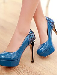 Women's Shoes Round Toe Stiletto Heel Leather Pumps Shoes More Colors Available