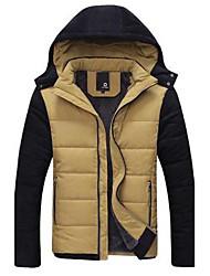 Men's Autumn&Winter Fleece Lined Warm Hoodie Cotton-padded Jacket