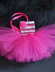 Girl's Flower Wedding Party Tutu Dress
