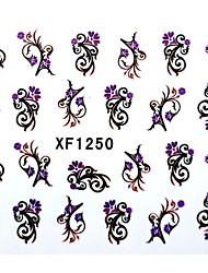 Half Cover Flower Style Nail Stickers XF1250
