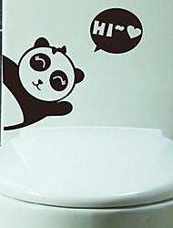 desenhos animados panda higiênico adesivo