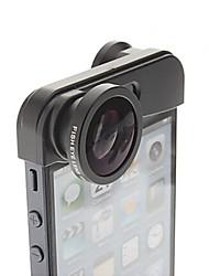 3-in-one clip-on stile 0.67x obiettivo grandangolare a 180 ° lente fisheye e macro serie lente per iPhone 5 / 5s