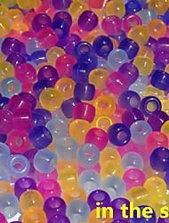 aprox 300pcs misturado mudança esferas 6x8mm pônei para bandas de borracha tear do arco-íris pulseira DIY acessórios