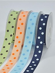 7/8 Inch Polyester Rib Belt Printing Ink Dot Two Oblique Dot Ribbon- 10 Yards Per Roll (More Colors)