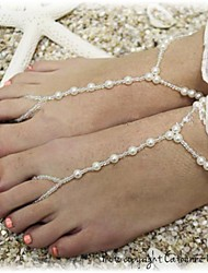 Women's All Handmade Beads Pearl Beads Anklet