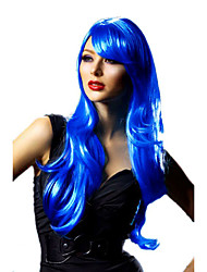 Mysterious Devil  Blue Long Curly 55cm Women's Halloween Party Wig