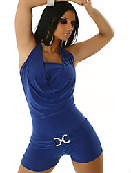 Women's Solid Color Blue / Red Jumpsuit , Sexy / Bodycon Straps Sleeveless