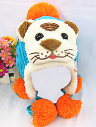 Kid's Fashion Joker Lovely Warm Heavy Hair Ball Tiger Earmuffs Hat