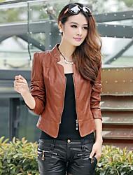 Women's Blazers & Sport Coats , PU Casual Vvic