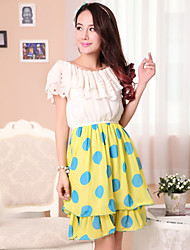 TS Polka Dot Layer Swing Dress