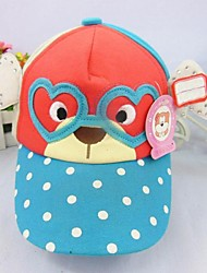 Children's Joker Fashion Lovely Glasses Bear Hat