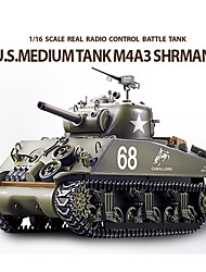 Heng lungo SHERMAN M4A3 scala 1/16 RC Battle Tank con simulato Smoke