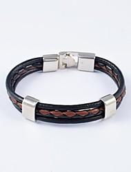 pulseiras de couro dos homens de estilo europeu