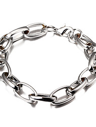 Width 1cm,Silver Plated High Quality Fashion Popular Cheap Smooth Figaro Chain Bracelet