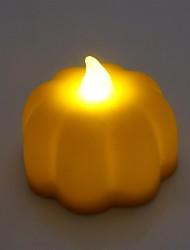 style mini citrouille d'Halloween flamme scintillement bougie avec lumière led jaune