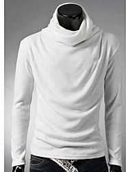 Men's Long Sleeve T-Shirt , Cotton/Others Casual Pure