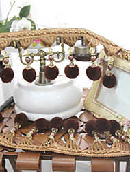32 feet Country Graceful Hand Made Trim - Coffee Bead Pendant