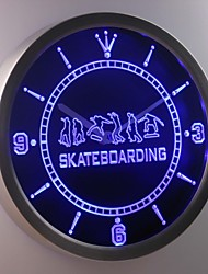 nc0359 Skateboarding Training Game Neon Sign LED Wall Clock