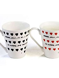 Magic Color Changing Ceramic Mug for Lovers It's Me Patterned Coffee Milk Cup
