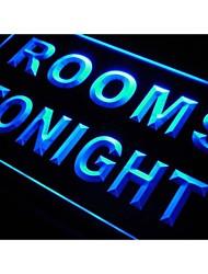 quartos M034 esta noite para o sinal do aluguel luz neon