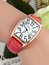 Classical Women's Rectangular Dial Alloy Leather Watches (1Pc)(Assorted Colors) Cool Watches Unique Watches