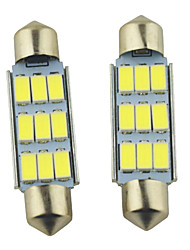 Carking ™-Girlande 41mm-5630-9SMD Auto-LED-Lampe Rom White Light (12V/2PCS)