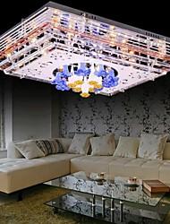 sunweit ras moderne 220v montage 10 lumières en fonction de cristal avec télécommande