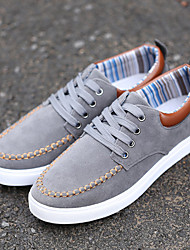 Men's Shoes Black/Yellow/Dark Grey/Dark Blue Flat Heel Casual (Canvas)