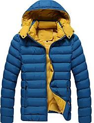 mannen hit katoen gevoerde kleding kleur meer mode warme jas