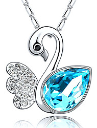 Pure Fashion Animal Gemstone Sweet Silver-Plated Necklace_9250109
