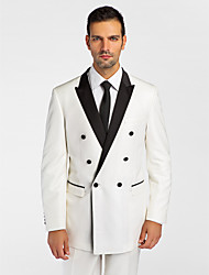 Black&White Polyester Tailored Fit Jacket