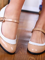 Women's Shoes Round Toe Chunky Heel Flats with Buckle Shoes More Colors available