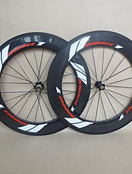 700C U Shape Carbon Wheelset for Road Bike 88mm Clincher