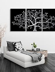 allungato tela fortunato albero decorazione set di 3