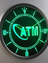 nc0256 ATM Display Decor Neon Sign LED Wall Clock