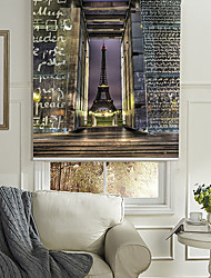 Dreamlike Night Landscape of Effel Tower Roller Shade