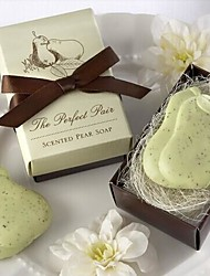 Holiday Gifts Mini Pear Shape Soap (Random Color)