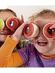 2pcs de madeira compostos caleidoscópio brinquedos olho (cor aleatória)