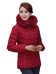 DM женщин Кореи сгущать меховой воротник оболочка элегантный пальто хлопка