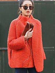 barra de aguja gruesa suéteres suéter flojo de la rebeca de las mujeres