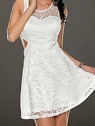 Ангел кружева поверхность белый фигурист платье женская