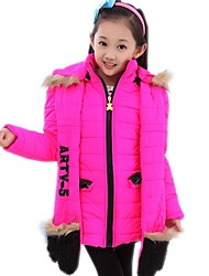Girl's Cotton Blend Jacket & Coat/Clothing Set , Winter/Spring/Fall Long Sleeve