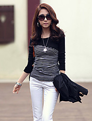 streepdruk lange mouw t-shirt van Yaqi vrouwen