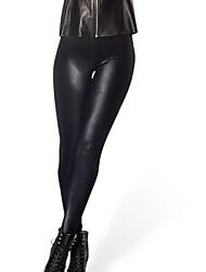 negros brillantes pantalones de tocar fondo sexy de Rosi mujeres