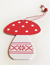 Christmas Decoratives  Mushroom Shape 1 PC MDF Materiels for Christmas Decorations