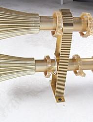 Aluminum Alloy Spray Gold Smooth Fine Umbrella Rome Rod Curtain Double Rod 05702-03
